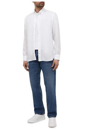 Мужская льняная рубашка BOGNER белого цвета, арт. 58712973   Фото 2
