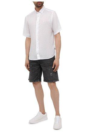 Мужская льняная рубашка BOGNER белого цвета, арт. 58852973   Фото 2