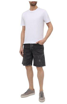 Мужские кожаные кеды BOSS светло-серого цвета, арт. 50454283 | Фото 2