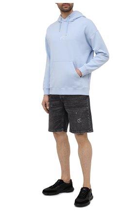 Мужские кожаные кроссовки BOSS черного цвета, арт. 50454970 | Фото 2