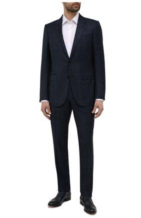 Мужские кожаные оксфорды MORESCHI темно-синего цвета, арт. 228881/177/BUFAL0/MZ.NAPPA | Фото 2