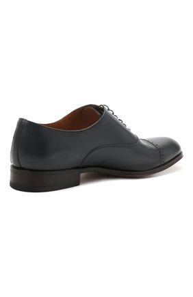 Мужские кожаные оксфорды MORESCHI темно-синего цвета, арт. 228881/177/BUFAL0/MZ.NAPPA   Фото 4 (Мужское Кросс-КТ: Броги-обувь; Материал внутренний: Натуральная кожа; Стили: Классический)