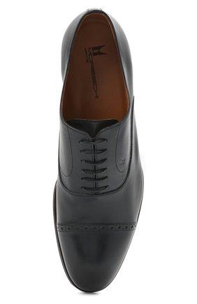 Мужские кожаные оксфорды MORESCHI темно-синего цвета, арт. 228881/177/BUFAL0/MZ.NAPPA   Фото 5 (Мужское Кросс-КТ: Броги-обувь; Материал внутренний: Натуральная кожа; Стили: Классический)