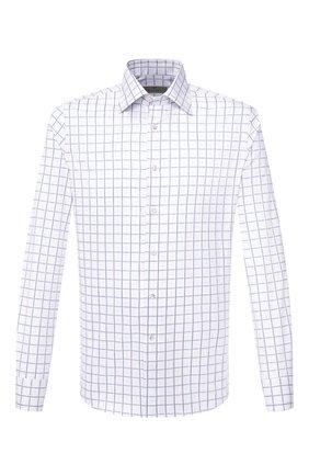 Мужская хлопковая сорочка CANALI белого цвета, арт. X05/GD01671   Фото 1