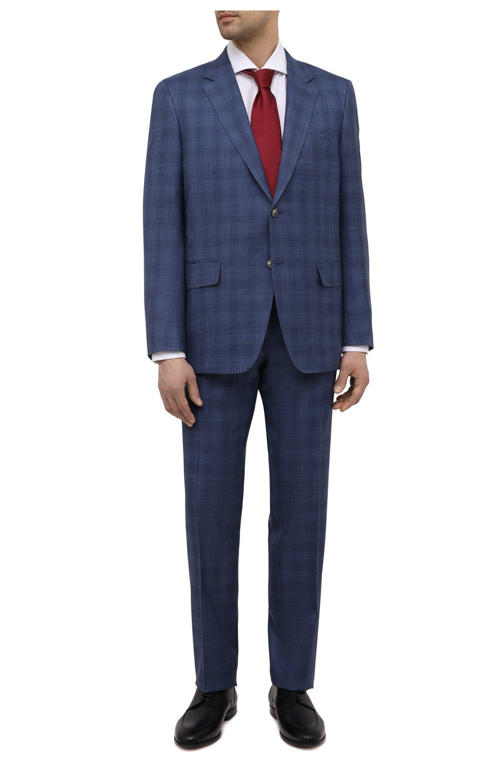 Мужской костюм из шерсти и шелка CANALI синего цвета, арт. E11280/10/BX02066   Фото 1