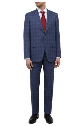 Мужской костюм из шерсти и шелка CANALI синего цвета, арт. E11280/10/BX02066 | Фото 1
