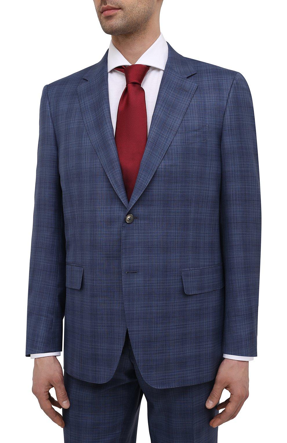 Мужской костюм из шерсти и шелка CANALI синего цвета, арт. E11280/10/BX02066   Фото 2