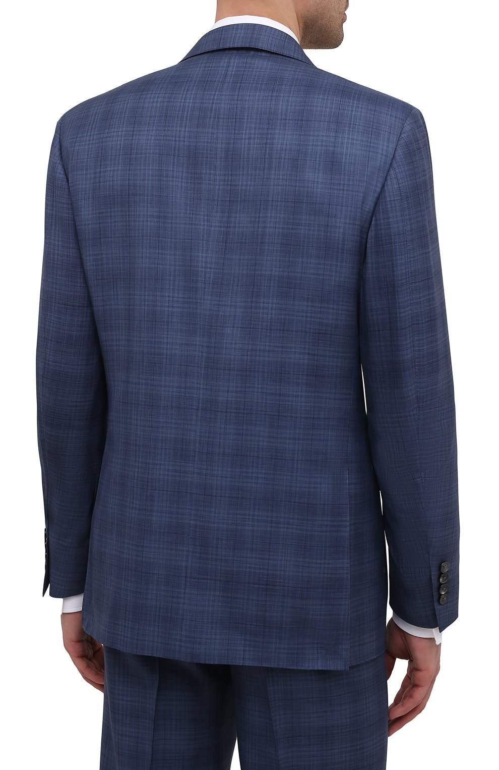 Мужской костюм из шерсти и шелка CANALI синего цвета, арт. E11280/10/BX02066   Фото 3