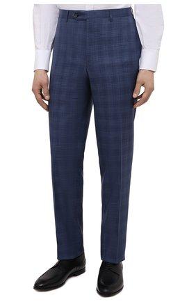 Мужской костюм из шерсти и шелка CANALI синего цвета, арт. E11280/10/BX02066   Фото 4