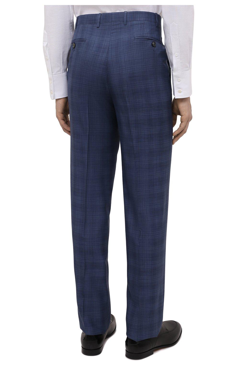 Мужской костюм из шерсти и шелка CANALI синего цвета, арт. E11280/10/BX02066   Фото 5