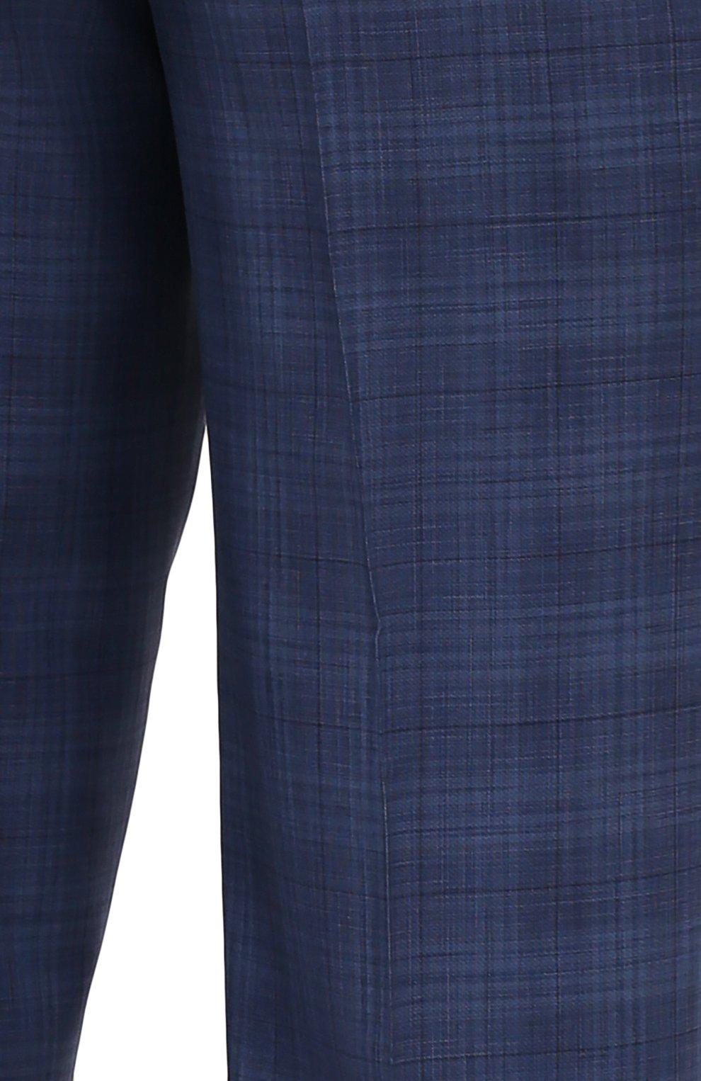 Мужской костюм из шерсти и шелка CANALI синего цвета, арт. E11280/10/BX02066   Фото 6
