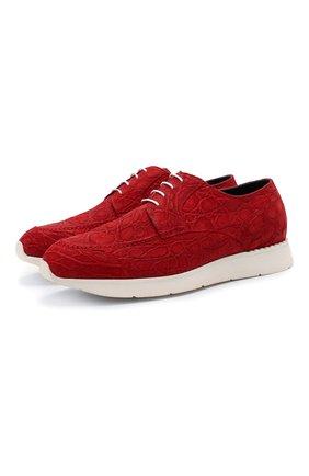 Мужские кроссовки из кожи каймана ZILLI красного цвета, арт. MDU-T146/010/CCR0 | Фото 1