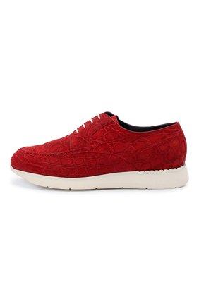 Мужские кроссовки из кожи каймана ZILLI красного цвета, арт. MDU-T146/010/CCR0 | Фото 3