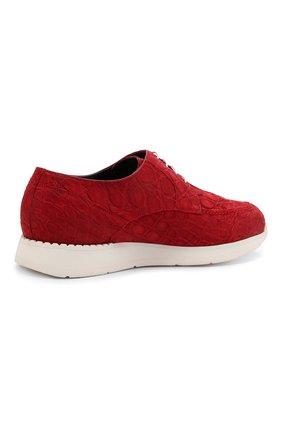 Мужские кроссовки из кожи каймана ZILLI красного цвета, арт. MDU-T146/010/CCR0 | Фото 4