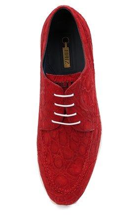 Мужские кроссовки из кожи каймана ZILLI красного цвета, арт. MDU-T146/010/CCR0 | Фото 5