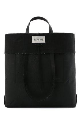 Мужская сумка-шопер MAISON MARGIELA черного цвета, арт. S35WC0133/P4135 | Фото 1 (Материал: Текстиль)