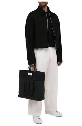 Мужская сумка-шопер MAISON MARGIELA черного цвета, арт. S35WC0133/P4135 | Фото 2 (Материал: Текстиль)
