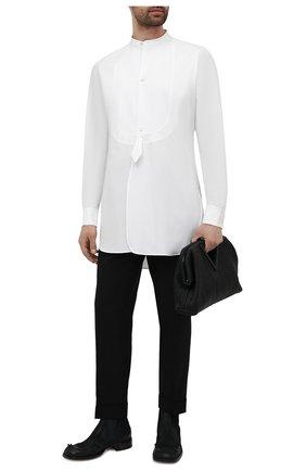 Мужская хлопковая рубашка MAISON MARGIELA белого цвета, арт. S30DL0487/S43001 | Фото 2