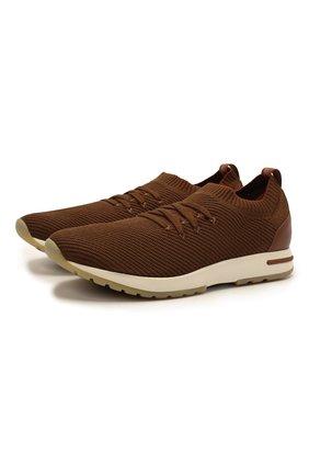 Мужские текстильные кроссовки 360 lp flexy walk LORO PIANA коричневого цвета, арт. FAL6185 | Фото 1