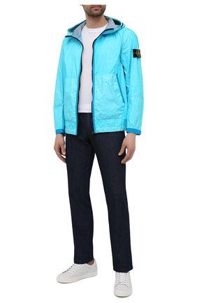 Мужская куртка STONE ISLAND бирюзового цвета, арт. 741540523 | Фото 2