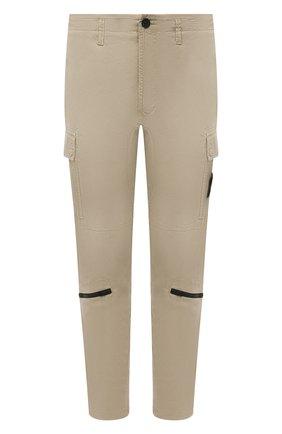 Мужские хлопковые брюки-карго STONE ISLAND бежевого цвета, арт. 741530419 | Фото 1