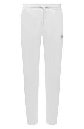 Мужские хлопковые джоггеры STONE ISLAND белого цвета, арт. 741564937 | Фото 1