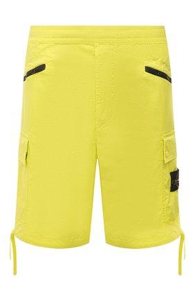 Мужские хлопковые шорты STONE ISLAND желтого цвета, арт. 7415L0403   Фото 1