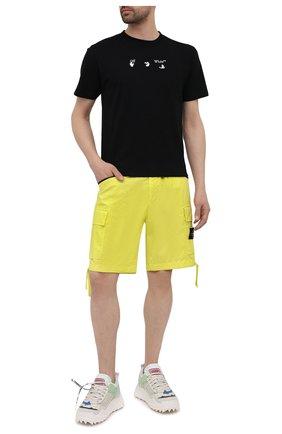 Мужские хлопковые шорты STONE ISLAND желтого цвета, арт. 7415L0403   Фото 2