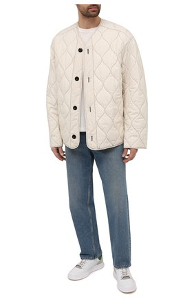 Мужские кожаные кеды quinn PREMIATA белого цвета, арт. QUINN/VAR5258 | Фото 2 (Материал внутренний: Натуральная кожа; Подошва: Массивная)