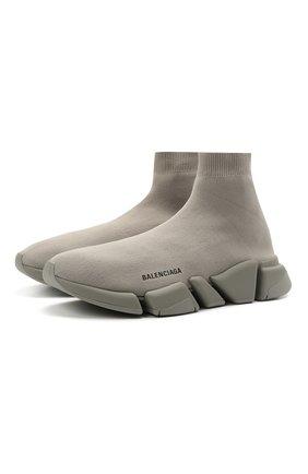 Мужские текстильные кроссовки speed 2.0 BALENCIAGA серого цвета, арт. 617239/W2DB1 | Фото 1