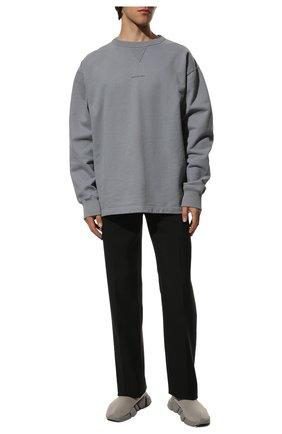 Мужские текстильные кроссовки speed 2.0 BALENCIAGA серого цвета, арт. 617239/W2DB1 | Фото 2
