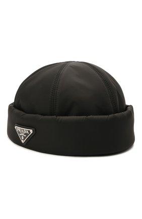 Мужская шапка PRADA черного цвета, арт. 2HC168-IYK-F0002   Фото 1