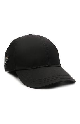Мужской бейсболка PRADA черного цвета, арт. 2HC274-2DMI-F0002   Фото 1