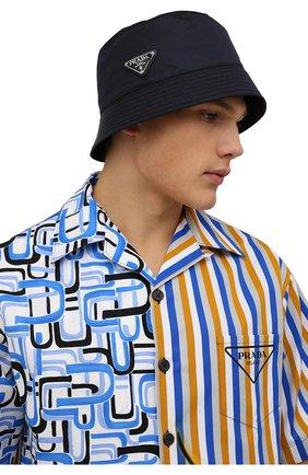 Мужская панама PRADA темно-синего цвета, арт. 2HC137-2DMI-F0008 | Фото 2 (Материал: Текстиль, Синтетический материал)