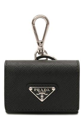 Кожаный чехол для airpods pro PRADA черного цвета, арт. 2TT133-2AHF-F0002 | Фото 1