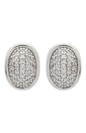 Женские серьги пуссеты-медальоны AVGVST BY NATALIA BRYANTSEVA серебряного цвета, арт. 205887.13-01 | Фото 1 (Материал: Серебро)