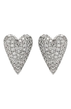 Женские серьги пуссеты-сердца AVGVST BY NATALIA BRYANTSEVA серебряного цвета, арт. 205860-01   Фото 1