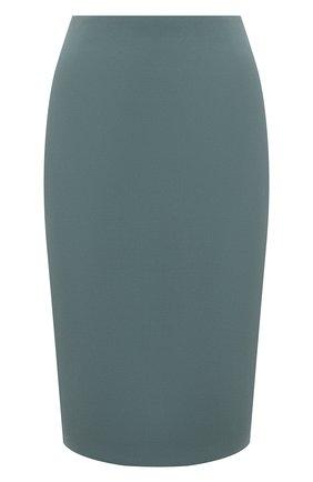 Женская юбка BOSS зеленого цвета, арт. 50454596 | Фото 1