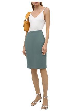 Женская юбка BOSS зеленого цвета, арт. 50454596 | Фото 2