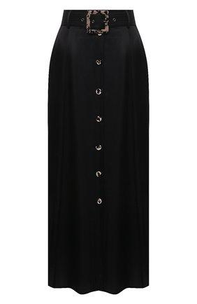 Женская юбка из вискозы и шелка GOTTEX черного цвета, арт. 21SA430 | Фото 1