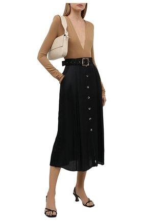 Женская юбка из вискозы и шелка GOTTEX черного цвета, арт. 21SA430 | Фото 2