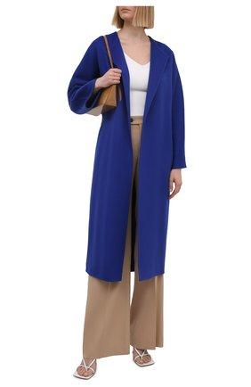 Женское кашемировое пальто KITON темно-синего цвета, арт. D51607DK05I38   Фото 2
