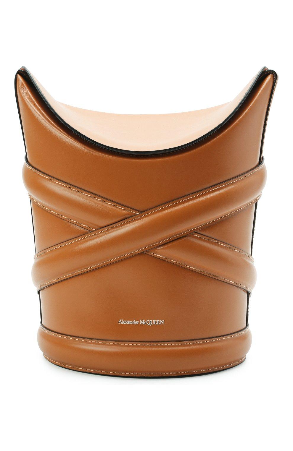 Женская сумка curve ALEXANDER MCQUEEN светло-коричневого цвета, арт. 656468/1YB40 | Фото 1