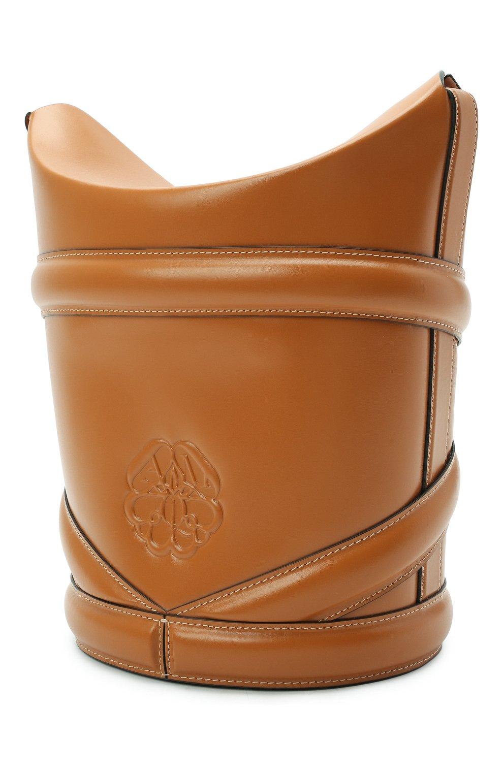 Женская сумка curve ALEXANDER MCQUEEN светло-коричневого цвета, арт. 656468/1YB40 | Фото 3