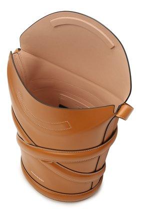 Женская сумка curve ALEXANDER MCQUEEN светло-коричневого цвета, арт. 656468/1YB40 | Фото 4