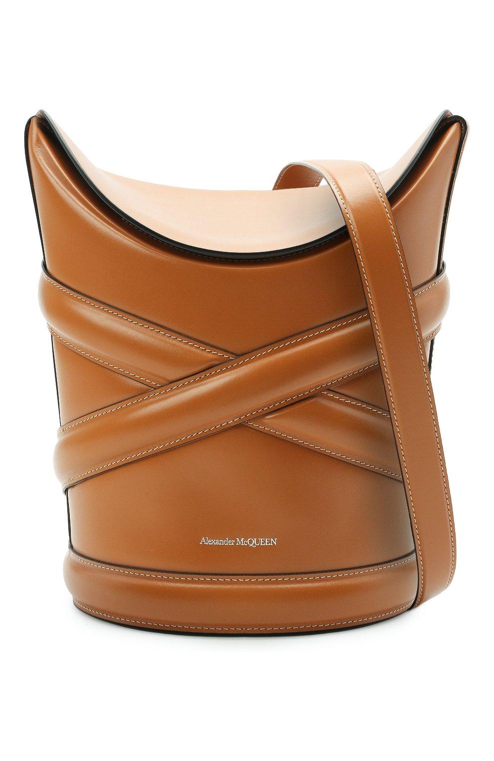 Женская сумка curve ALEXANDER MCQUEEN светло-коричневого цвета, арт. 656468/1YB40 | Фото 5