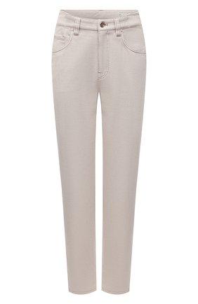 Женские джинсы BRUNELLO CUCINELLI светло-бежевого цвета, арт. MP93PP5596 | Фото 1