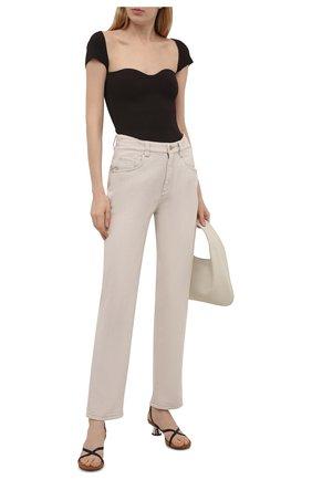 Женские джинсы BRUNELLO CUCINELLI светло-бежевого цвета, арт. MP93PP5596 | Фото 2