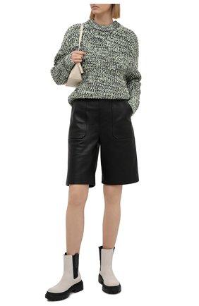 Женские замшевые ботинки BRUNELLO CUCINELLI серого цвета, арт. MZSFG2008P | Фото 2 (Подошва: Платформа; Каблук высота: Низкий; Материал внутренний: Натуральная кожа; Женское Кросс-КТ: Челси-ботинки)