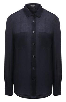 Женская рубашка GIORGIO ARMANI синего цвета, арт. 1WHCC01L/T00NW | Фото 1